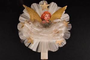 Spun Glass Angel Tree Topper Penn Polly Vintage Collectibles
