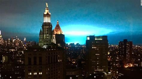 blue sky   york city caused  power company mishap cnn