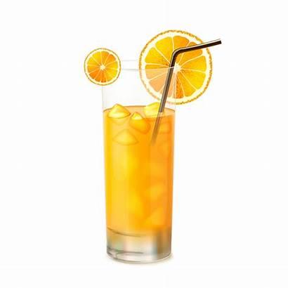 Juice Glass Orange Clipart Transparent Fruit Psd