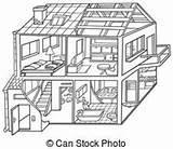 Clipart Attic Vector Dwelling Clip Cartoon Illustration Inside Illustrations Electric Canstockphoto Clipground Eps Derocz sketch template