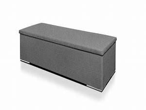 Sitztruhe Mit Stauraum : cool sitztruhe mit stoffbezug oslo grau sitztruhe real ~ Indierocktalk.com Haus und Dekorationen