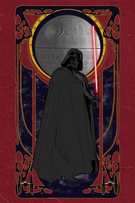 deco wars the of evil nouveau supervillains war darth vader and nouveau poster
