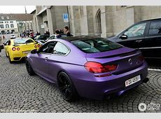 Matt Purple BMW M6 Tuned by GPower Hides Some Serious