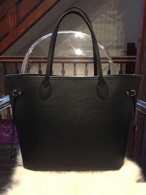louis vuitton neverfull mm epi leather black noir ebay
