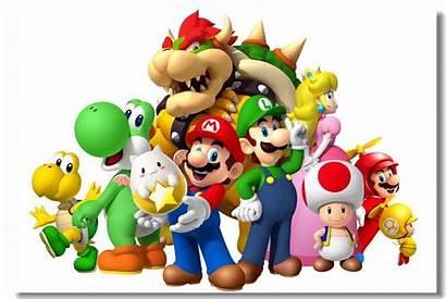 Mario Poster Canvas Luigi Bros Cat Itl