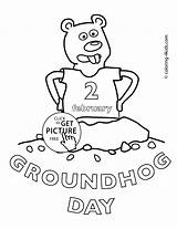Groundhog Coloring Pages Printable February Happy Hello Drawing Spring Kitty Sheets Printables Colouring Children Walt Disney Turn Into 4kids Awesome sketch template