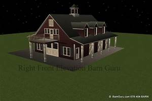 James barn plans with 2 bedrooms for 5 stall horse barn