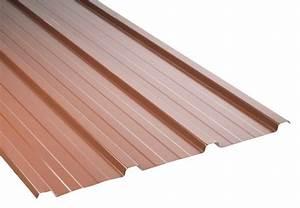 Tole De Bardage Brico Depot : bac en acier galvanis rouge l 300 cm l 84 cm brico d p t ~ Melissatoandfro.com Idées de Décoration