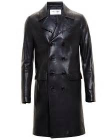Black Leather Trench Coat Men