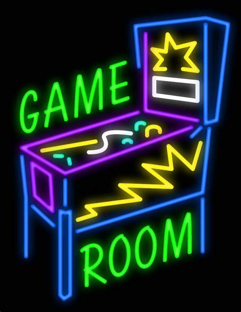 Buy Online Neon Sign For Game Room  Custom Neon Signs