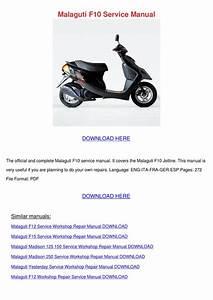 Malaguti F10 Jetline Scooter Workshop Manual Repair Manual Service Manual Download