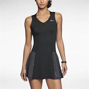 NWT Nike Blue Black Colorblock 2014 Serena OZ Australian Tennis Dress M | eBay