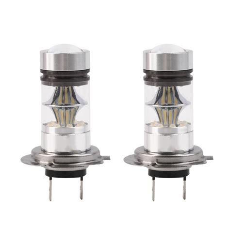 led fog light bulbs 2pcs h7 6000k 100w led 20 smd projector fog driving drl