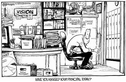Principal Principals Cartoons Borgman Administrators Hug Teachers
