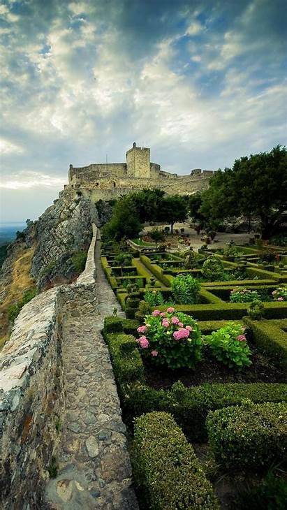 Marvao Portugal Castle Alentejo Wallpaperscraft Gardens