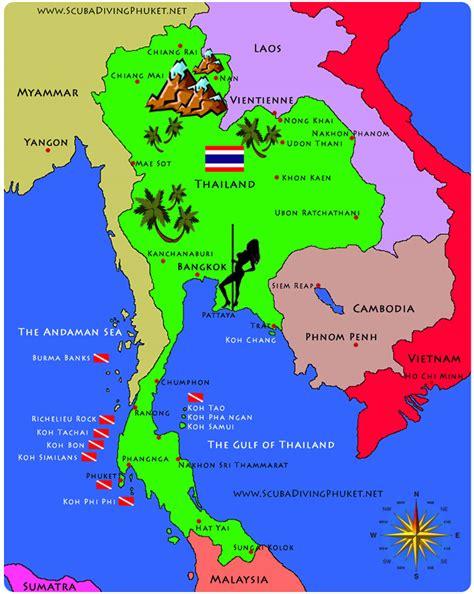 thailand islands map google search trip  thailand
