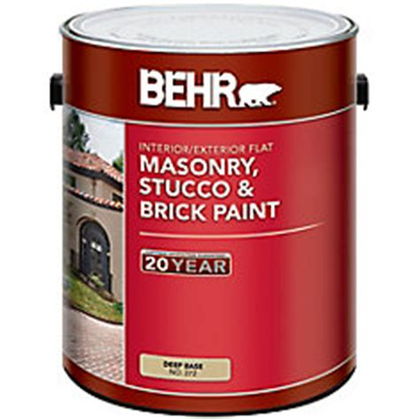 behr behr masonry stucco brick paint flat base