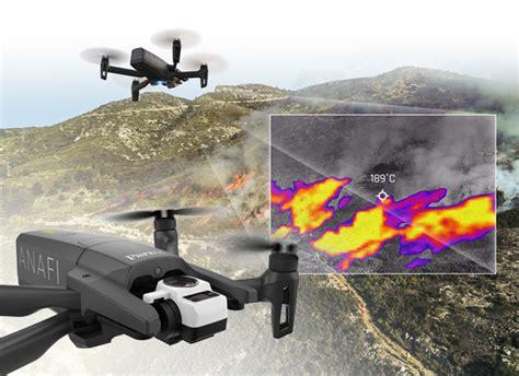 perroquet anafi thermal  drone camera parrot txrobotic