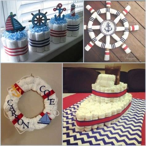 nautical baby shower diaper babyshower