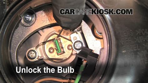 how to change a burnt out headlight light turn signal