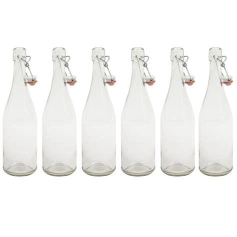 le avec bouteille en verre bouteille de limonade transparente 75 cl avec bouchon m 233 canique par 6 tom press