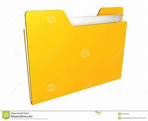 Computer yellow folder stock illustration. Illustration of ...
