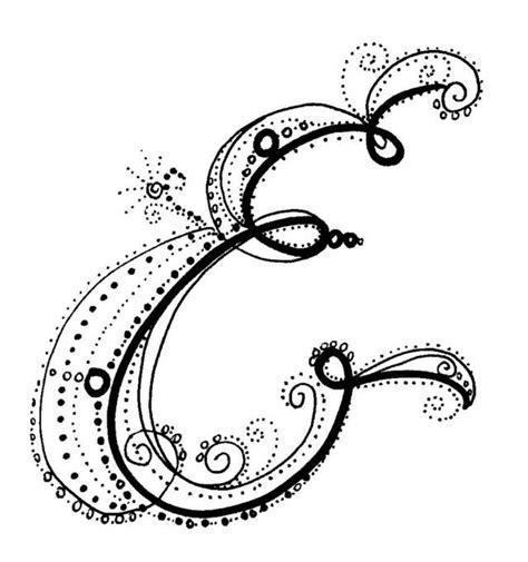 Fancy Calligraphy Letter E