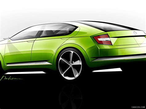 Skoda Visiond Design Concept Design Sketch Wallpaper