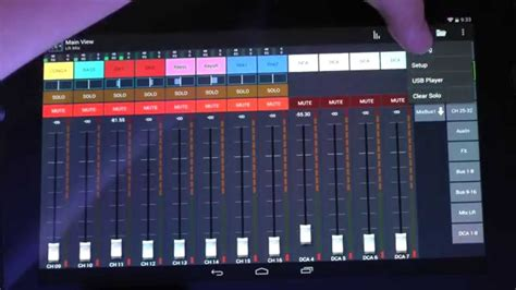 mixer for android behringer x32 mixing station android app overview