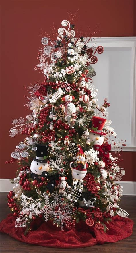 christmas tree decorated with snowmen 17 best images about raz imports on