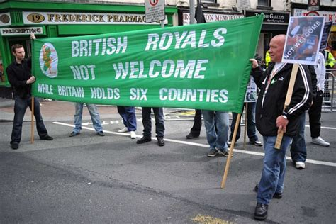 The Queen in Ireland: heavy security and protests