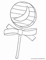 Candy Coloring Halloween Printable Lollipop Colouring Kinderart Pdf sketch template