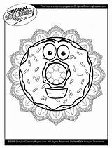 Coloring Pages Donut Donuts sketch template