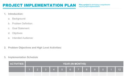 project implementation plan template implementation plan pmd pro