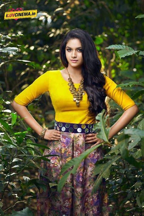 Actress Keerthi Suresh Latest Hot Photos Saree Still And
