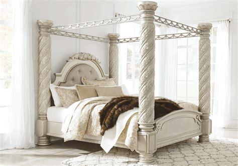 cassimore king canopy bedroom set louisville overstock warehouse