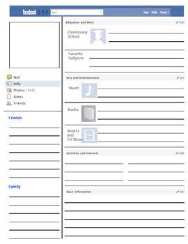 facebook profile template  vanessa bingham teachers