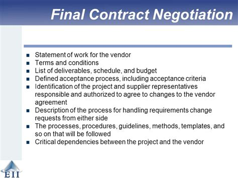 contract negotiation template effective project management traditional agile ppt