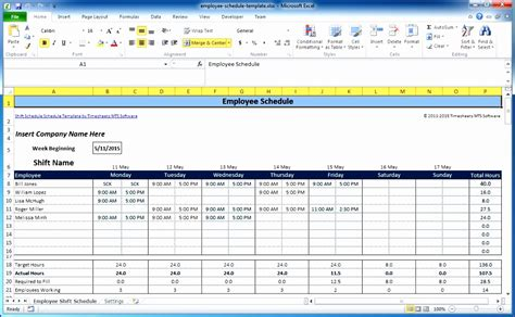 excel timesheet template multiple employees