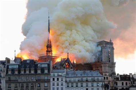 notre dame fire huge inferno devastates world famous