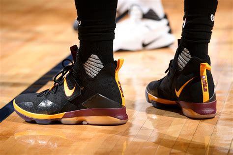 Orange Yellow Womens Nike Lebron 14 Shoes