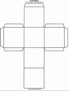 cube outline free printable teaching free printables With mic flag template