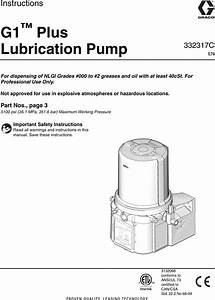 Graco 332317c G1 Plus Control Lubrication Pump Users