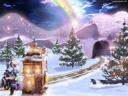 Christmas Wallpapers Animated Desktop Scenes Winter Celebrities