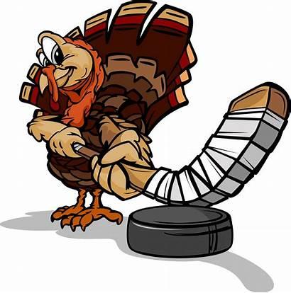 Turkey Hockey Clipart Ice Thanksgiving Shoot Holiday