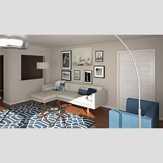 Before & After Mid Century Modern Living Room Design