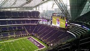 Vikings Stadium Seating Chart With Seat Numbers U S Bank Stadium Section 312 Minnesota Vikings