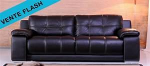 les canapes cuir de la semaine en vente flash canape cuir With vente flash canapé cuir