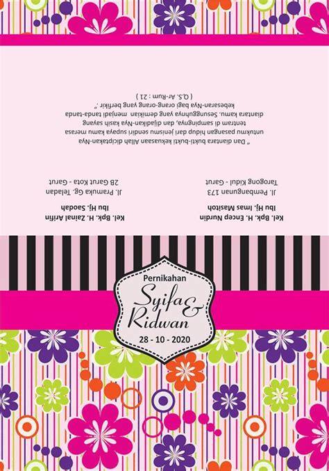 desain undangan motif bunga vintage cdr kumpulan