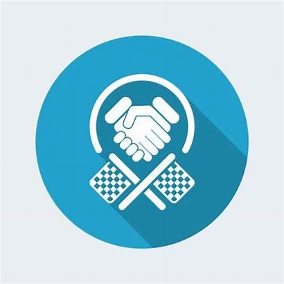 Sportsmanship Respect Competition Vector Clip Illustrations Race